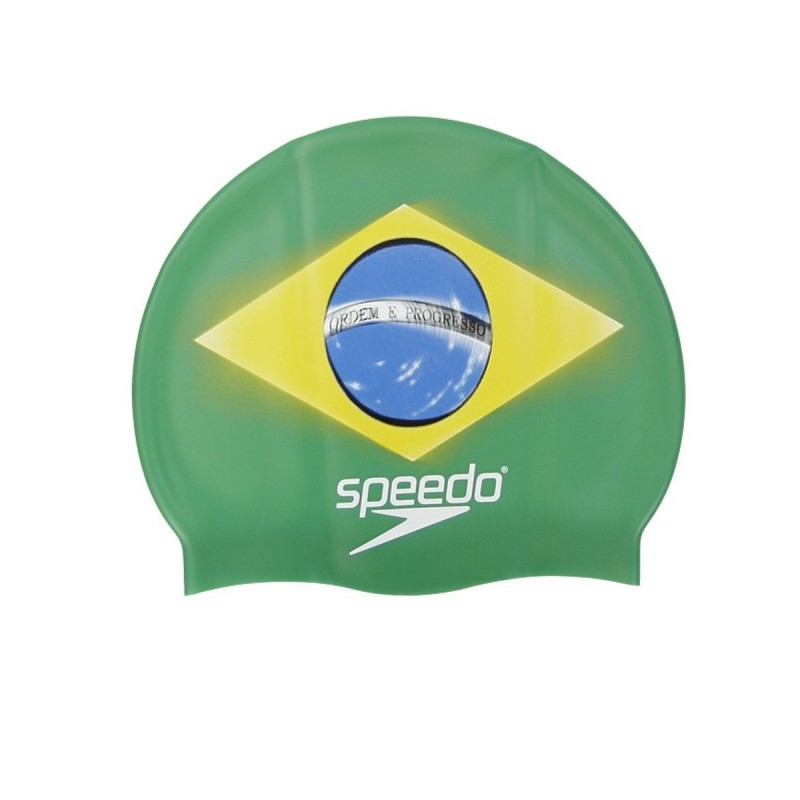 SPEEDO cuffia in silicone National Flag brasile