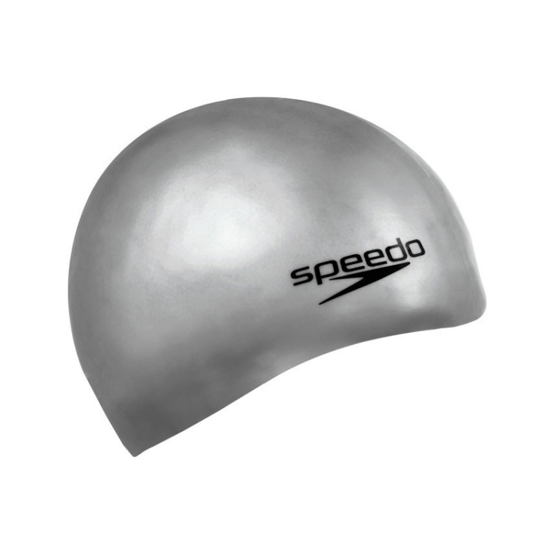SPEEDO cuffia in silicone Plain Moulded grigia