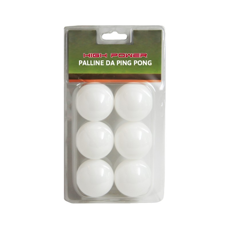 6 PALLINE PING PONG TRAINING HIGH POWER