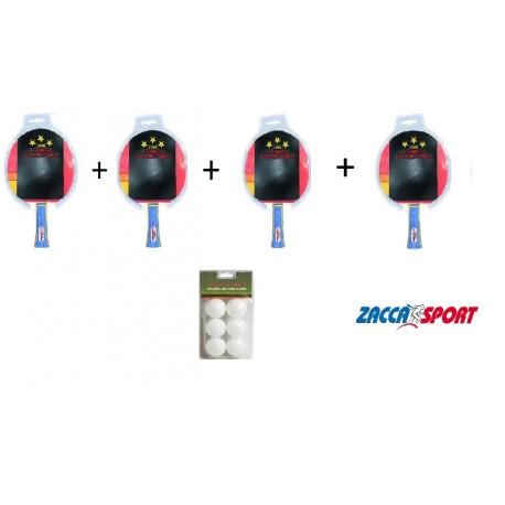 4 Racchette + 6 palline HP