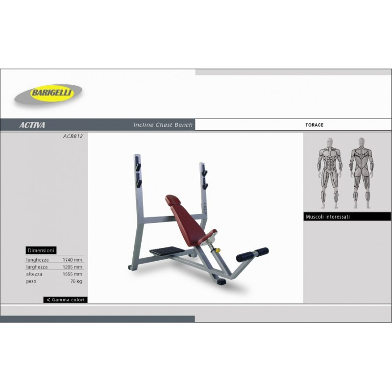 INCLINE CHEST BENCH