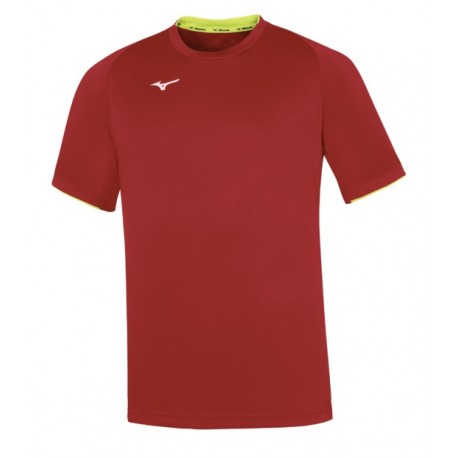 MIZUNO maglietta Team Core Short Sleeve red/yellow fluo