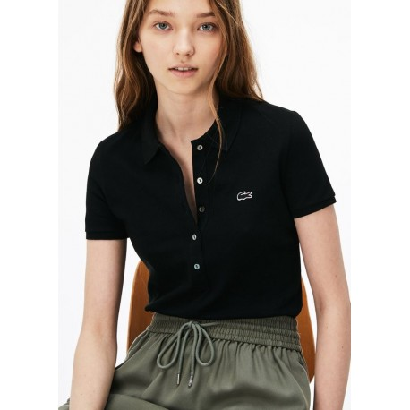 LACOSTE - polo slim fit donna