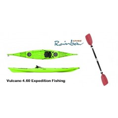 Rainbow Vulcano 4.60 Expedition Fishing - Canoa Sit On Top 460 Cm + 2 Portacanne + 2 Gavoni + Schienale + Pagaia