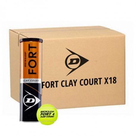 DUNLOP Fort Clay Court 18 Tubi da 4 palline