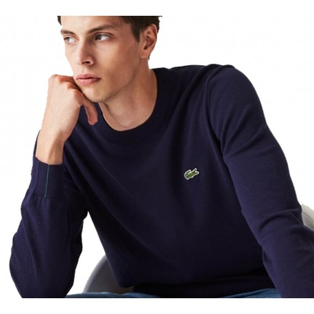 LACOSTE Pullover in Cotone Navy